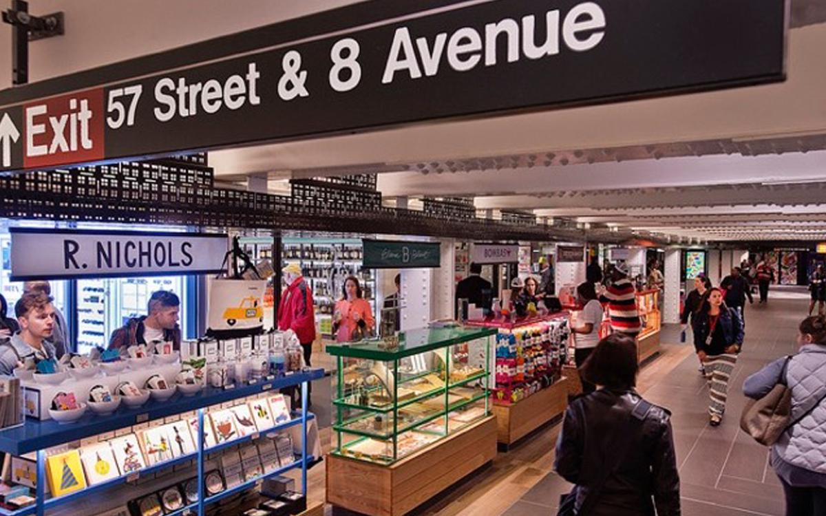 Custom shop display kiosks for Turnstyle Columbus Circle