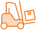 icon for logistics of trade show displays