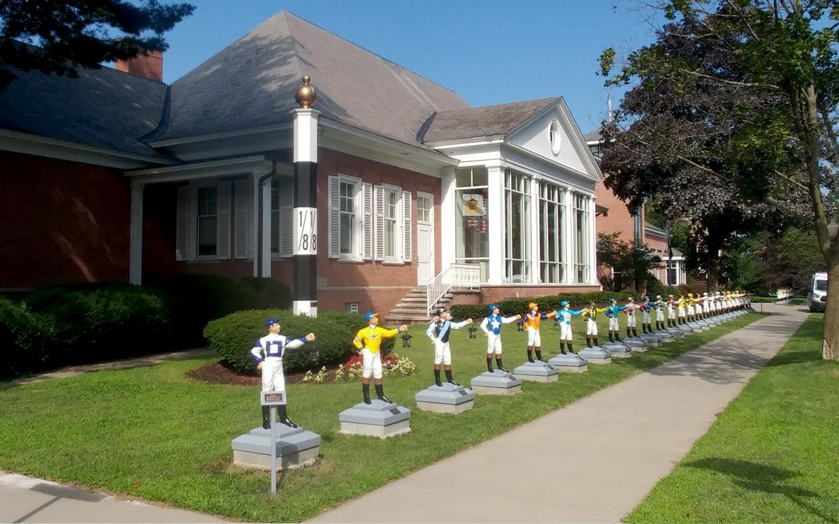 Jockey sculpture row museum exhibit