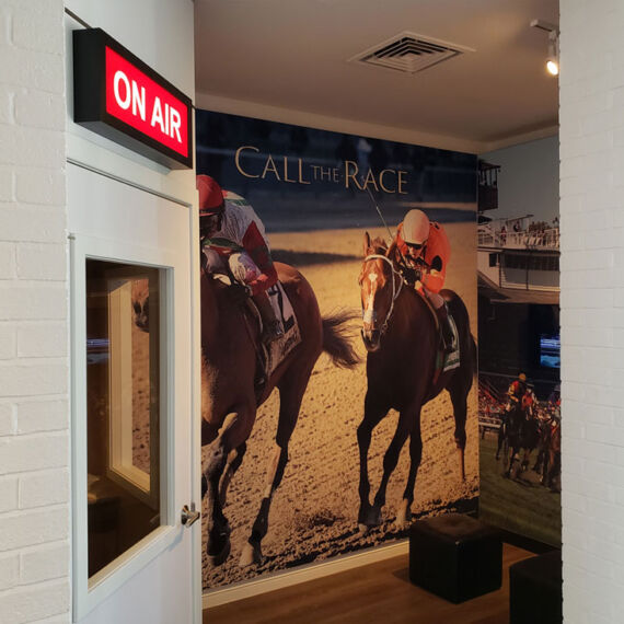 sound booth interactive at horse racing museum