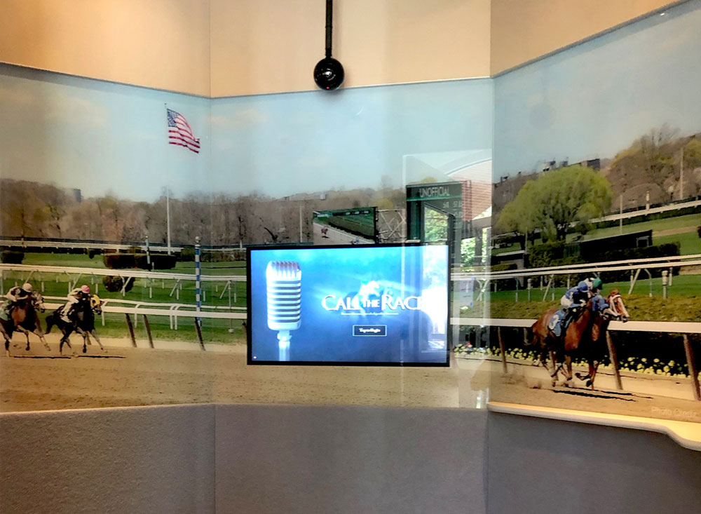 sound booth interactive experience at horse racing museum
