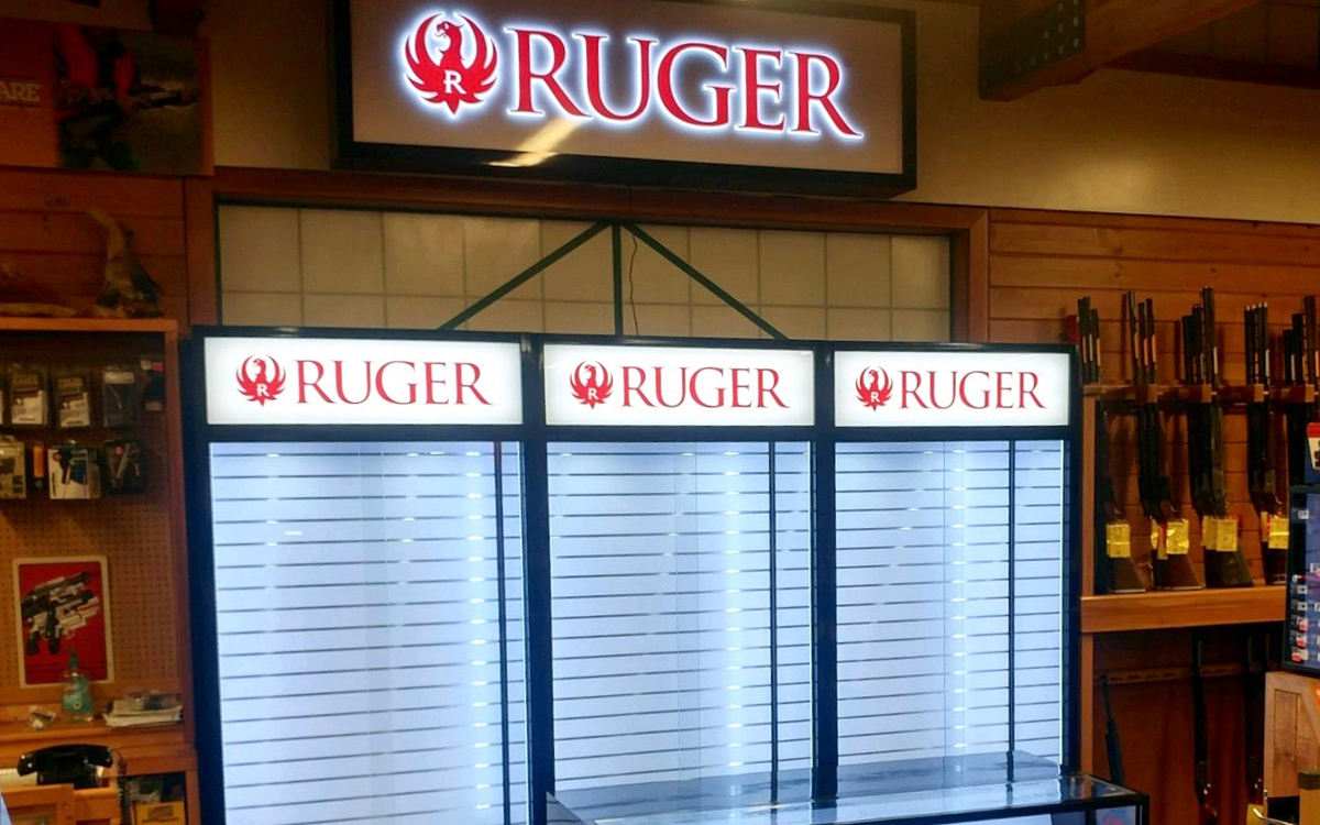 ruger store fixtures for product display