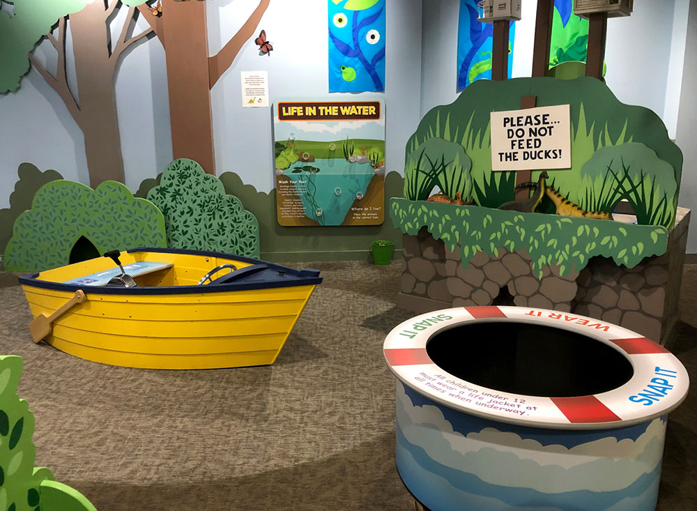 childrens museum exhibit boat and game exhibit for kids learning