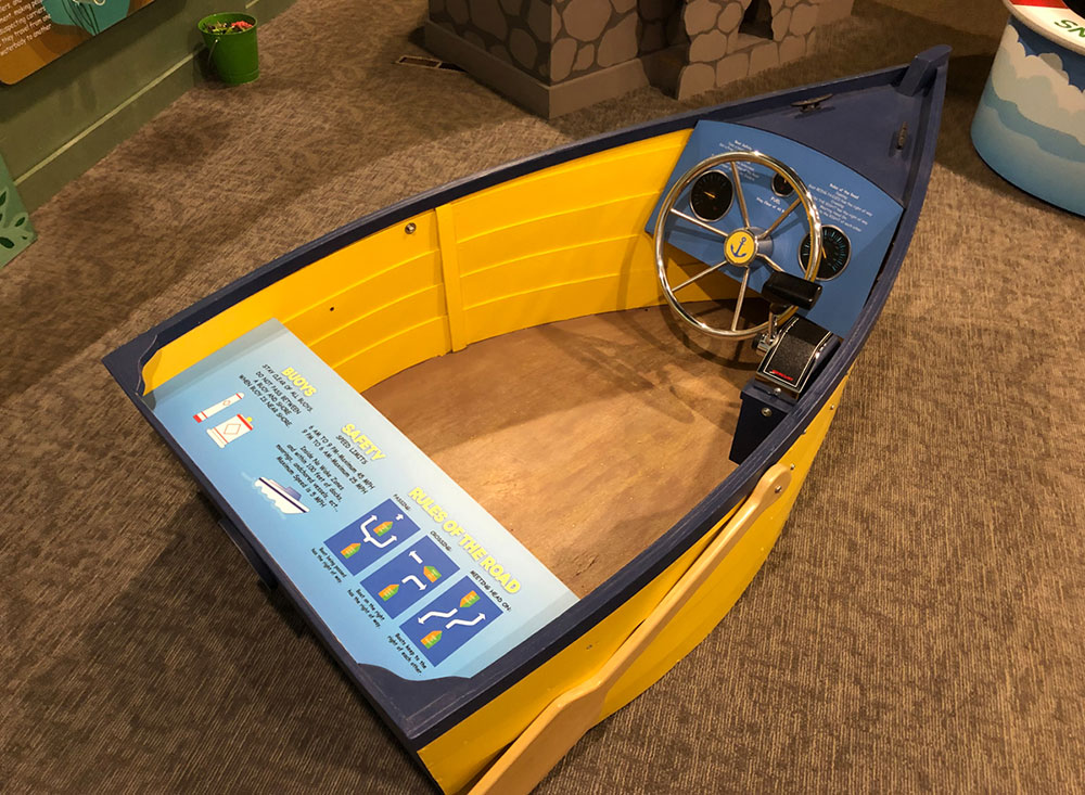 childrens museum interactive exhibit boat for learning