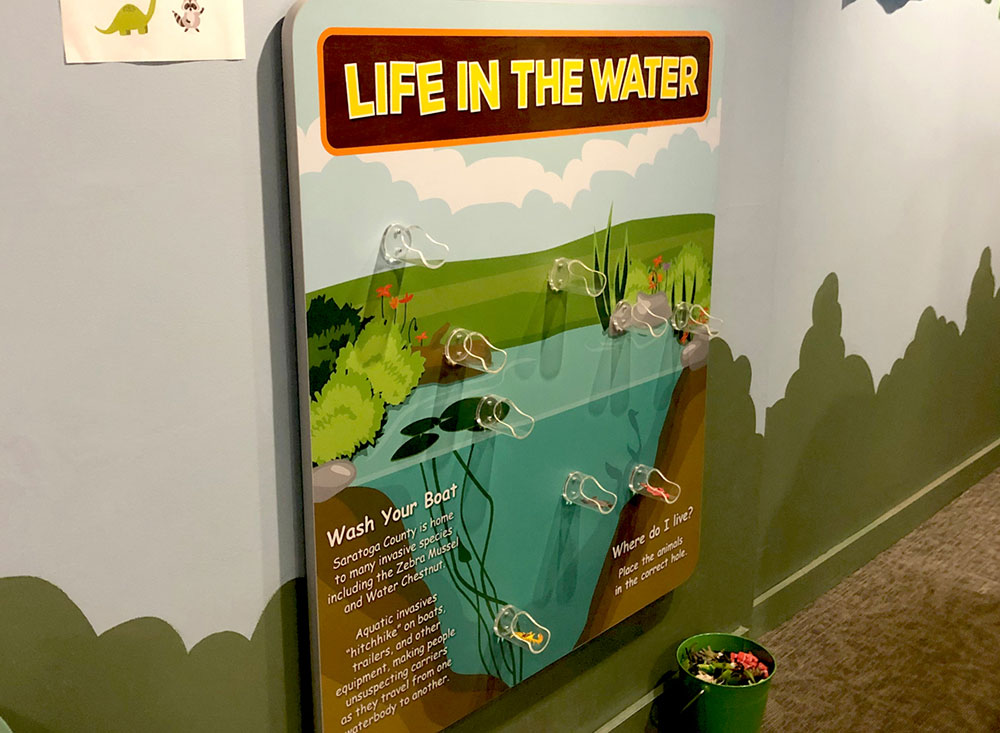 kids museum leaning game about lake life