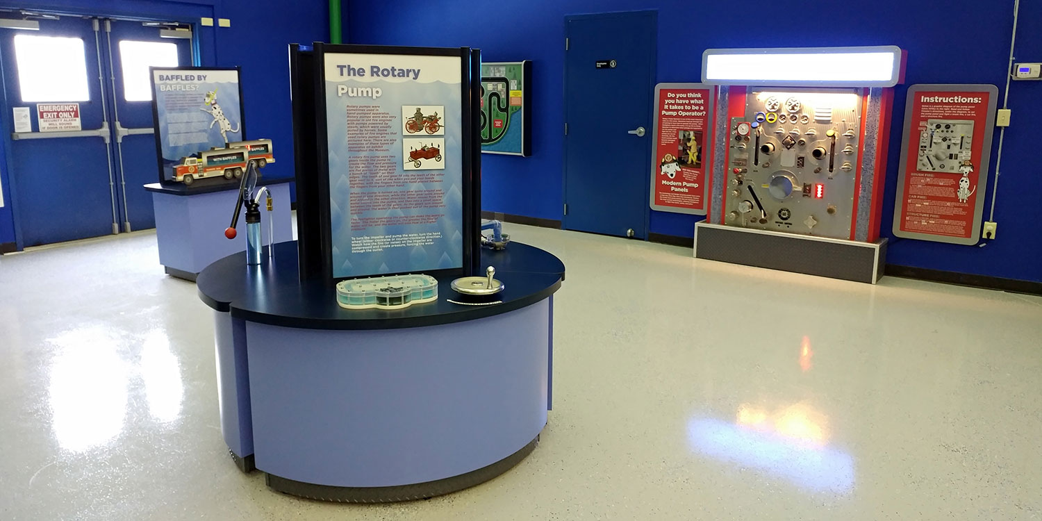 Custom kiosks and interactive displays at FASNY Museum for a permanent installation