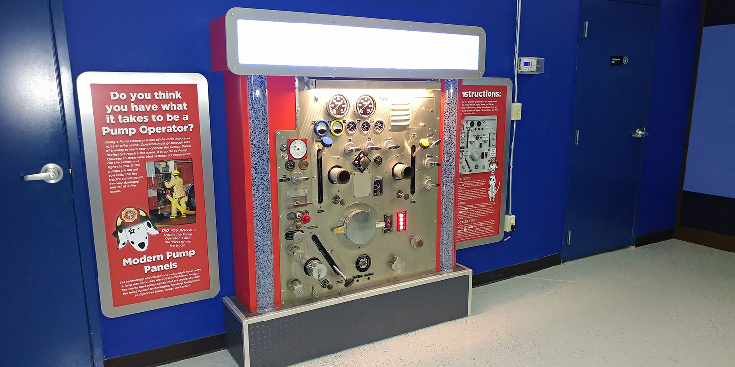 Permanent installation interactive kiosk for FASNY museum