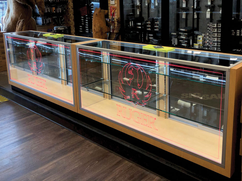 custom display cases for retail environments