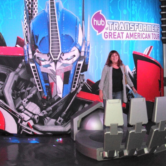 photo op display for Transformers movie, Optimus Prime's hand